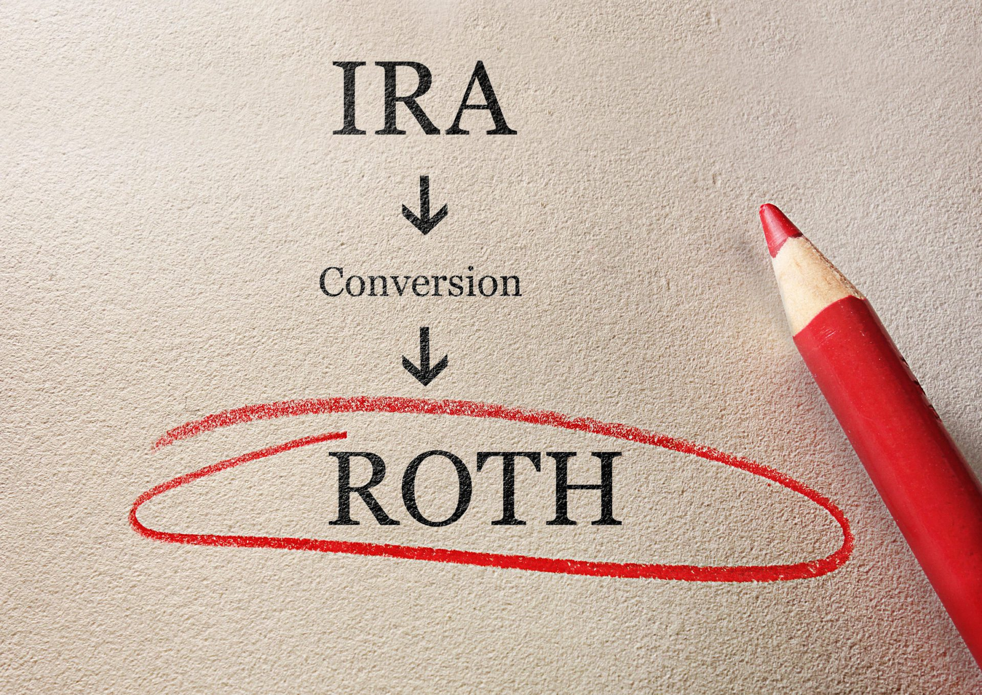 roth ira conversion image of pencil on paper